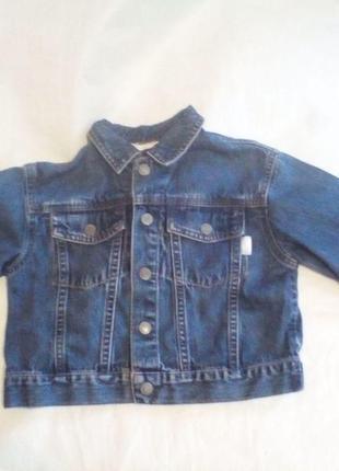 Стильная джинсовая куртка esprit на 3-4года