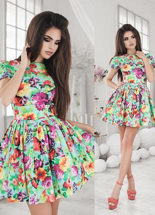 Яркое пышное платье {есть размеры и расцветки}