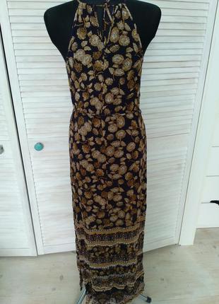 Літнє максі плаття new look в принт з поясом