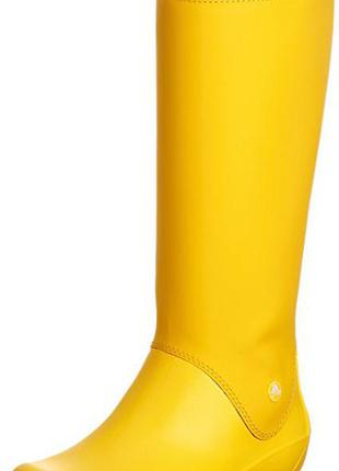 Резиновые сапоги crocs rainfloe boot раз. w6
