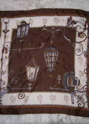Платок со фонарями, роуль, шоколад. подарок.
