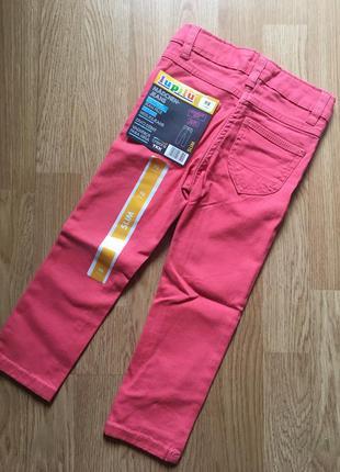 Стильные джинсы для девочки lidl lupilu, размер 2-3 г, 98
