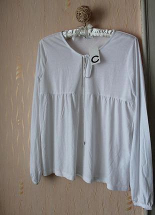 Сток! новая белоснежная блуза рубашка