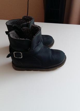 Кожаные сапожки для мальчика zara