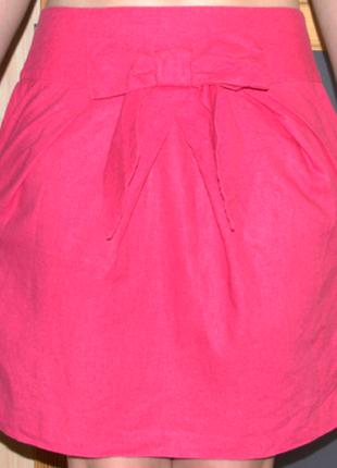 Яркая юбка лен-вискоза