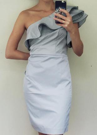 Новое серебряное платье на одно плече   открытые плечи  сукня вечірня   серое выпускное e8ab23e8aef6e