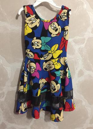 Платье с мики