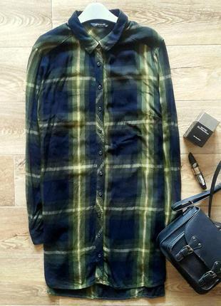 Длинная рубашка в клетку, платье-рубашка в клетку, женская рубашка lc waikiki
