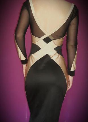 Платье миди с очень красивой спинкой