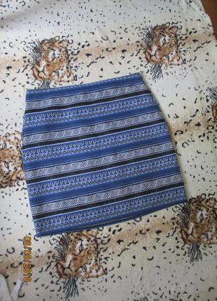 Стильная юбка миди /этно принт от bonmarche /большой размер 54-56