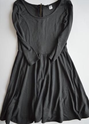 Серое базовое платье divided by h&m
