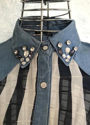 Красивая блуза модный принт