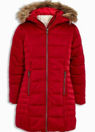 Удлиненная зимняя куртка 6 лет i love next