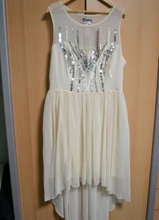 🍇кремовое платье lipsy london!