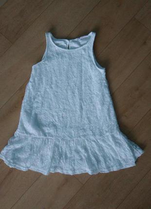Белое платье гипюр кружевное h&m