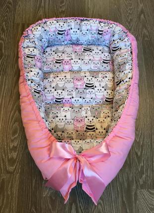 Поделиться:  двустороннее гнездышко babynest для новорожденной девочки