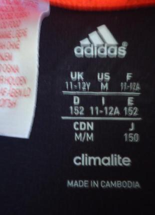 Фирменная майка adidas на 11-12лет. (р.152)5 фото