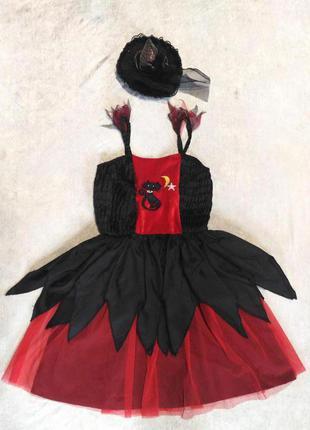 Карнавальное платье ведьма 4-6 на хэллоуин