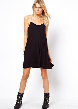 Базовое платье на тонких брительках h&m