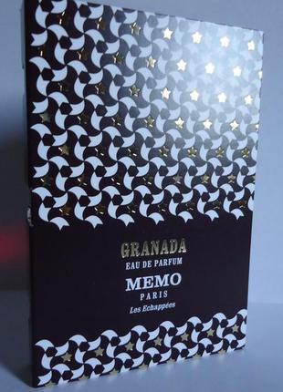 Нишевый парфюм memo granada фирменный пробник
