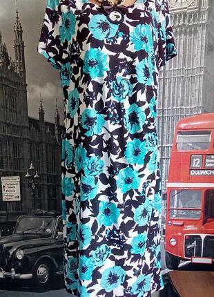 David emanuel, сукня футляр з квітами з тонкого трикотажу