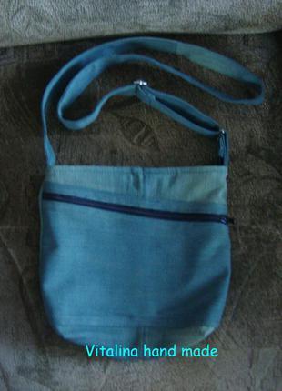 Небольшая джинсовая сумка торба через плечо хаки распродажа много джинсовых сумок на лето