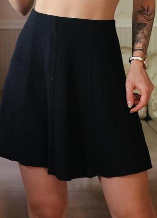 Черная расклешенная юбка p&b