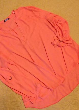 Блуза светло морковного цвета