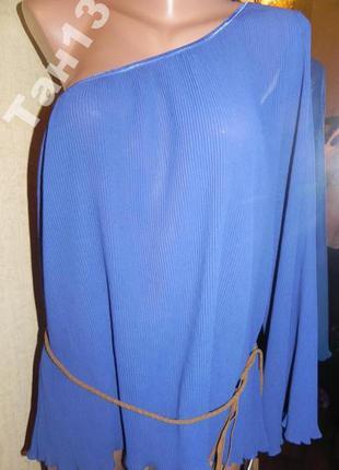 Распродажа. шифоновая плисированная блуза . 50р