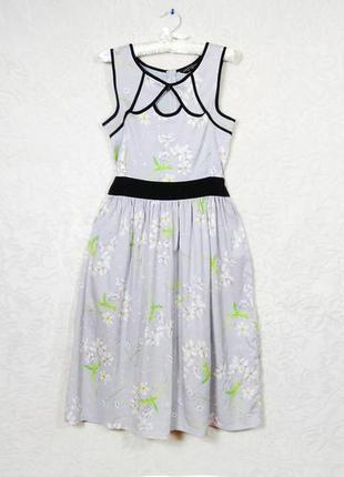 Платье сарафан серый с принтом dorothy perkins 12 40 dorothy perkins