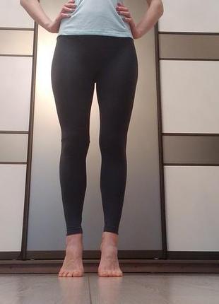 ... Леггинсы серые однотонные бесшовные лосины спортивные для фитнеса йоги2  ... 48fa2585d3b89