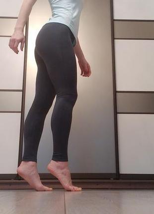 ... Леггинсы серые однотонные бесшовные лосины спортивные для фитнеса йоги3 2c9bf88a5b8c2