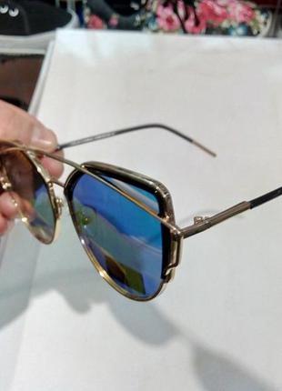 15b6ff9ef3fb ... Очки солнцезащитные полузеркальные модные женские металлическая оправа5