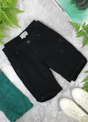 Шорты бойфренд из джинсовой ткани черного цвета   pn181973  northmore denim