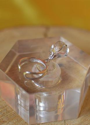 Серебряное кольцо с горным хрусталем ′вечность′