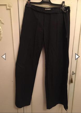 Модные широкие льняные брюки с запахом dirk bikkembergs!