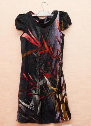 Шелковое натуральное платье warehouse