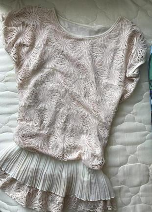 Блузка плиссе