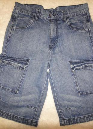 Летние джинсовые шорты бриджи george на мальчика р.146-152 (11-12лет)