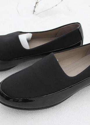 -12%. туфли, мокасины, лоферы, балетки ecco 39р. оригинал. кожа