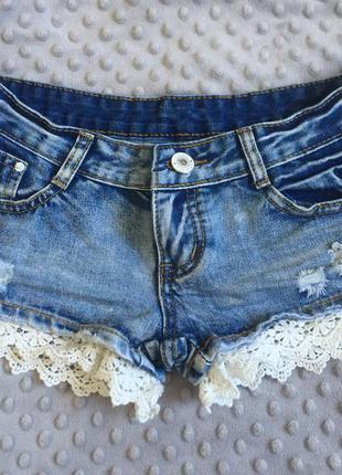 Джинсовые шорты, шортики короткие