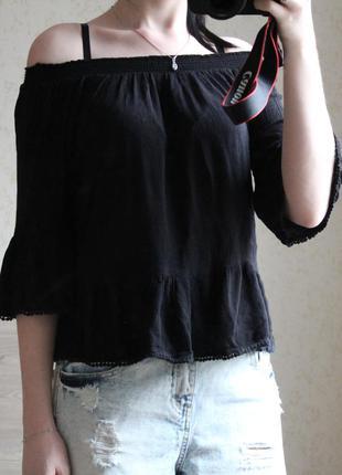 Топ на плечи new look, размер xs-s