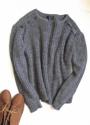Серый свитер крупной вязки от atmosphere, размер xxl
