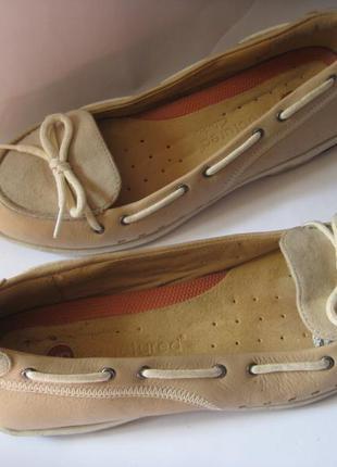 Clarks. италия. кожаные ортопедические туфли балетки мокасины рр 39 по стельке 25см