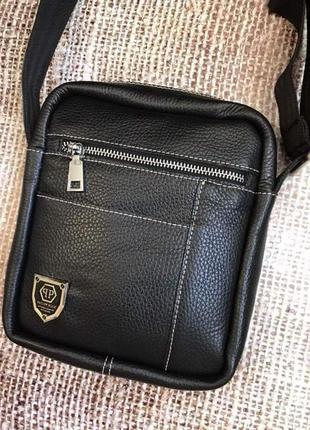 Мужская кожаная сумка - планшетка. мессенджер.