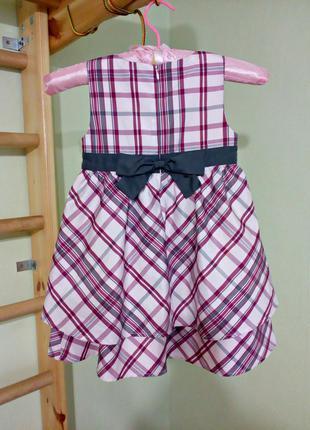 Нарядное детское платье 2-4 г