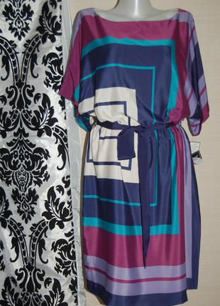 Платье  jessica howard шелк с карманами  l