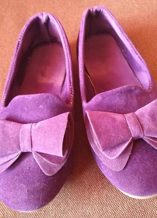 Бархатные туфельки для модницы