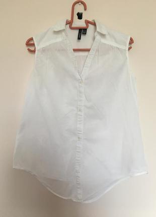 Лёгкая коттоновая блуза mango
