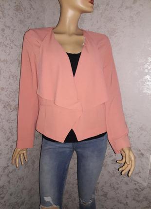 Жакет пиджак без пуговиц размер 14
